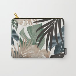 Tropical Jungle Leaves Pattern #13 (Fall Colors) #tropical #decor #art #society6 Carry-All Pouch