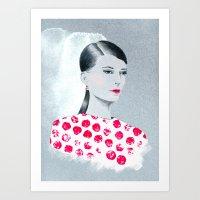 sandra dieckmann Art Prints featuring Sandra by youdesignme