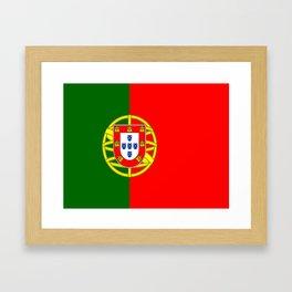 flag of portugal -Portuguese,mirandese,Portugués,lisbon,porto. Framed Art Print