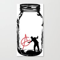 anarchy Canvas Prints featuring Anarchy  by jamieskinner