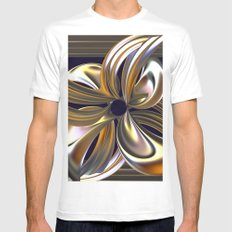Gilded Lily White MEDIUM Mens Fitted Tee