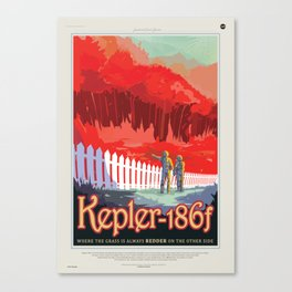 Kepler-186f Canvas Print