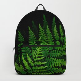 Fern Fronds on Black Backpack