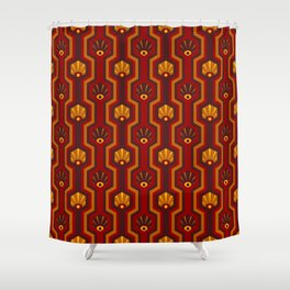 Retro-Delight - Hexed Hive - Inferno Shower Curtain