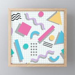 Memphis Shapes Framed Mini Art Print