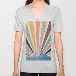 Fuji sun retro Unisex V-Neck