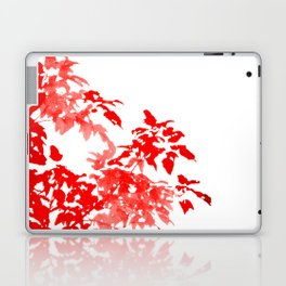 Red Leave Silhouette Laptop & iPad Skin