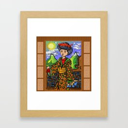 Yoru no Asia Framed Art Print