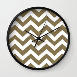 Gold Fusion - grey color - Zigzag Chevron Pattern Wall Clock