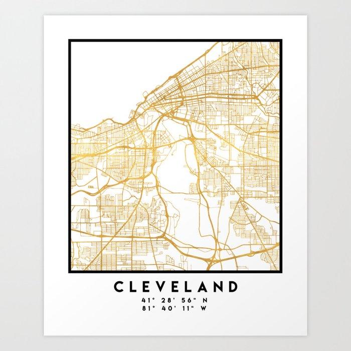 Cleveland Ohio Map on