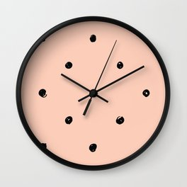 DOTS ON THE PINK Wall Clock