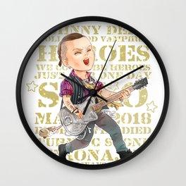 Rock Star Johnny Depp Wall Clock