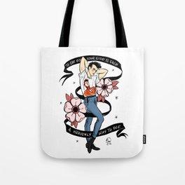 Heavenly Way to Die Pin Up Tote Bag