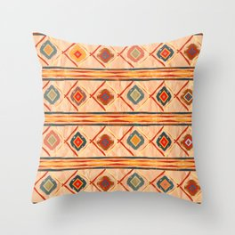 Southwestern Motif in Beige Throw Pillow