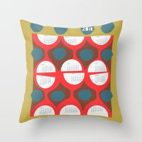calendar Throw Pillows featuring 2013 retro calendar by ottomanbrim