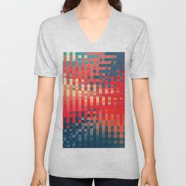 Abstract Composition 677 Unisex V-Neck
