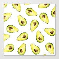 avocado Canvas Prints featuring avocado by Lucia Devetakova
