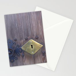 Old door knob with keyholes Stationery Cards