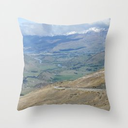 New Zealand Crown Ranges Throw Pillow