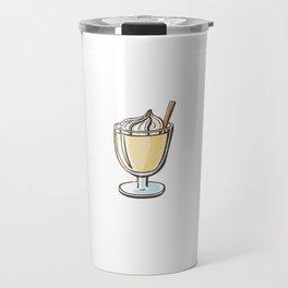 Devout Eggnostic Funny Eggnog Design for Egg Nog Lovers Travel Mug
