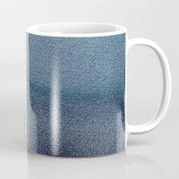 georgiana paraschiv Mugs featuring In Blue by Georgiana Paraschiv