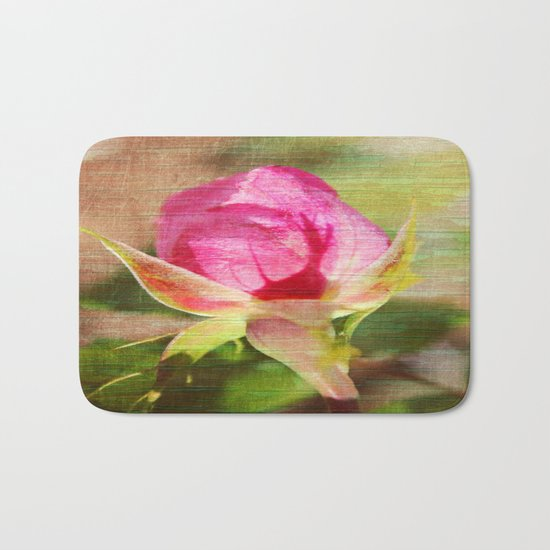 Vintage Rose Bud Bath Mat