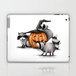 Raccoons and Jack-O-Lanterns Laptop & iPad Skin