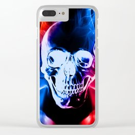 Smokey Skull Clear iPhone Case