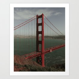 Golden Gate West From Above Art Print