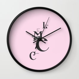 Love you to bits  #love #typography Wall Clock