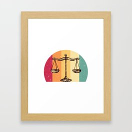 Scales Of Justice Lawyer Retro Gift Idea Framed Art Print