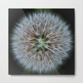 Dandelion Fractal Metal Print