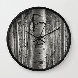 Eyes of Aspen Wall Clock