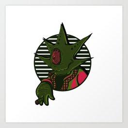 Mister Weed Monster Art Print