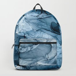 Churning Blue Ocean Waves Abstract Painting Backpack