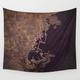 Ripples of Gold Wall Tapestry