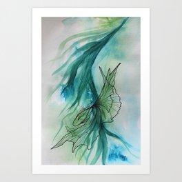 Peaceful Fish Dancing in the Ocean 1 Art Print