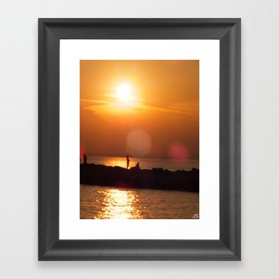 As The Sun Goes Down Framed Art Print