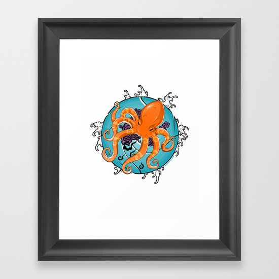 Hexapus Ink 2 Framed Art Print
