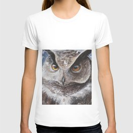 "The Owl - ""Watch-me!"" - Animal - by LiliFlore T-shirt"