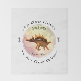 No One Rules If No One Obeys Throw Blanket