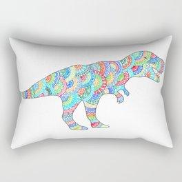 T Rex Dinosaur Doodle Rectangular Pillow