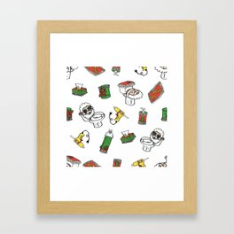 Abuela, drop the gun! Framed Art Print