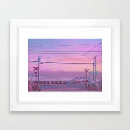 Peachy Morning Framed Art Print