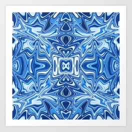 65 - Psychedelic Blues Art Print