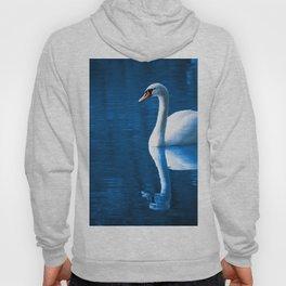 Beautiful Swan Blue Lake Hoody