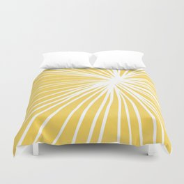 Dandelion in Yellow by Friztin Duvet Cover