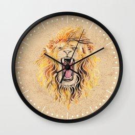 Swirly Lion Wall Clock