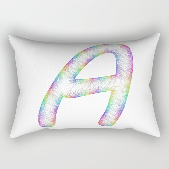 Letter A Rectangular Pillow