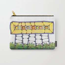 Funky yellow architectural design 51 Carry-All Pouch